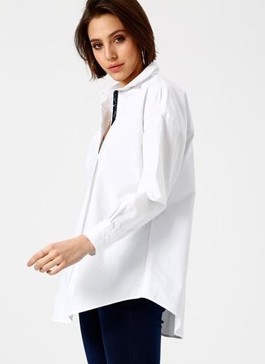 North Of Navy Uzun Kollu Gömlek Beyaz